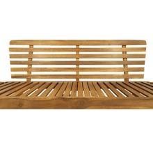 Gartenbank Multifunktion Garden Place Holz Akazie 3-Sitzer braun inkl. Kissen-thumb-9