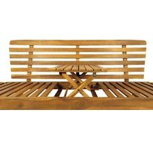 Gartenbank Multifunktion Garden Place Holz Akazie 3-Sitzer braun inkl. Kissen-thumb-10