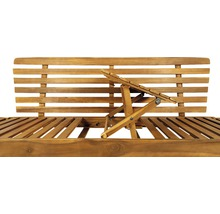 Gartenbank Multifunktion Garden Place Holz Akazie 3-Sitzer braun inkl. Kissen-thumb-11
