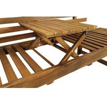 Gartenbank Multifunktion Garden Place Holz Akazie 3-Sitzer braun inkl. Kissen-thumb-12