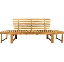 Gartenbank Multifunktion Garden Place Holz Akazie 3-Sitzer braun inkl. Kissen-thumb-15