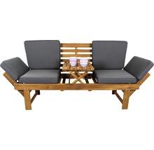 Gartenbank Multifunktion Garden Place Holz Akazie 3-Sitzer braun inkl. Kissen-thumb-16