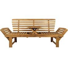 Gartenbank Multifunktion Garden Place Holz Akazie 3-Sitzer braun inkl. Kissen-thumb-17