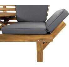 Gartenbank Multifunktion Garden Place Holz Akazie 3-Sitzer braun inkl. Kissen-thumb-18