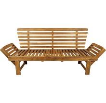 Gartenbank Multifunktion Garden Place Holz Akazie 3-Sitzer braun inkl. Kissen-thumb-19