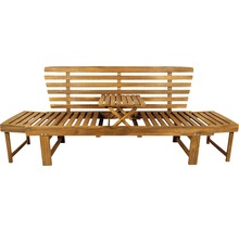 Gartenbank Multifunktion Garden Place Holz Akazie 3-Sitzer braun inkl. Kissen-thumb-21