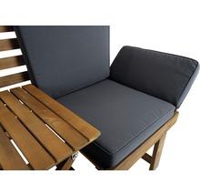 Gartenbank Multifunktion Garden Place Holz Akazie 3-Sitzer braun inkl. Kissen-thumb-23