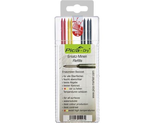 Ersatzminen-Set Pica Dry 8 Stück graphit/rot/gelb
