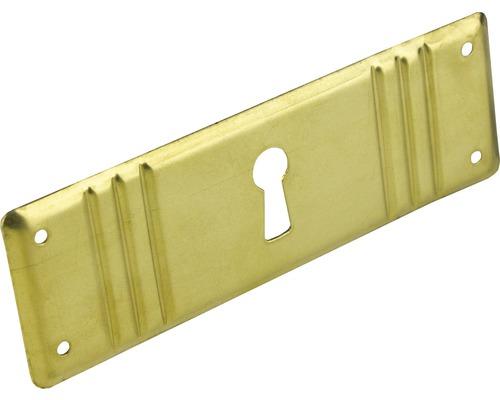 Plaque pour clé métal brillant/or Lxlxh 96x32x2mm