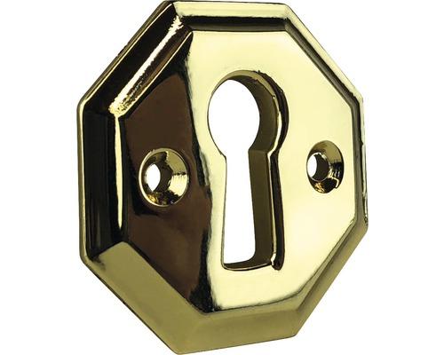 Plaque pour clé métal brillant/or Lxlxh 30x30x3mm