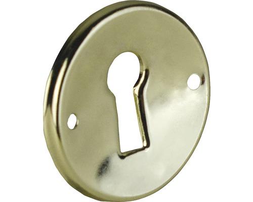 Plaque pour clé métal brillant/or Lxlxh 30x30x2mm