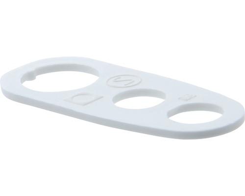 Chape de suspension décharge de traction blanc
