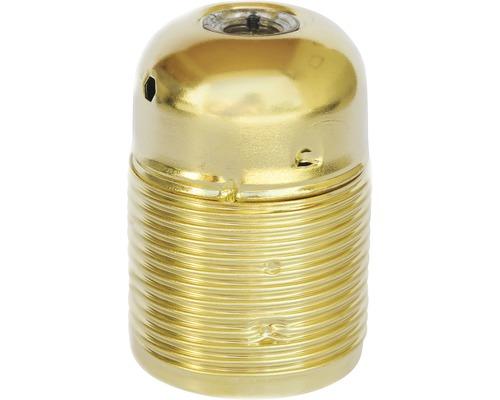 Culot de lampe E27 métallique, à filetage long en laiton