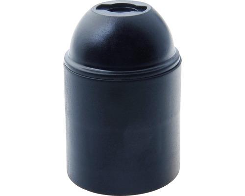 Culot de lampe E27 plastique noir