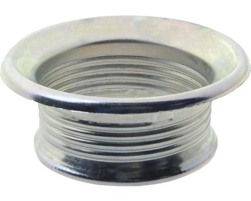 Bague filetée E27 métallique, argent