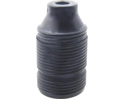 Culot de lampe E27 métallique, à filetage long patine/noir
