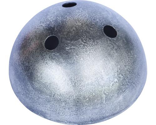 Baldaquin de lampe triple, métallique, patine/argent Ø100mm