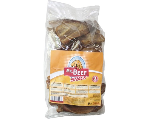 Hundesnack MR. BEEF Schweineohren 500 g