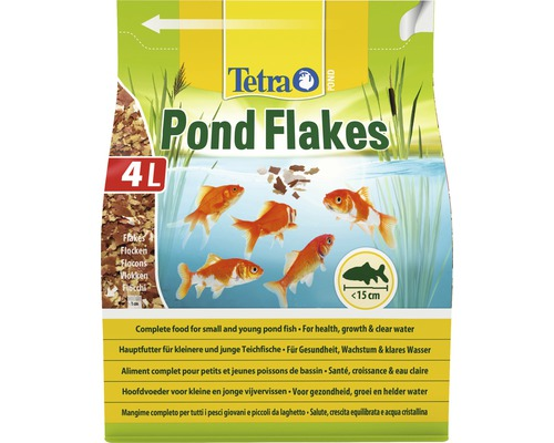 TetraPond Nourriture pour poissons Flakes 4 L