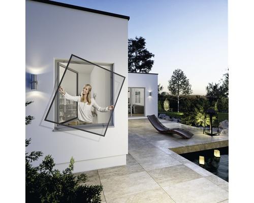 Moustiquaire pour fenêtre Flexi Fit anthracite 130x150 cm