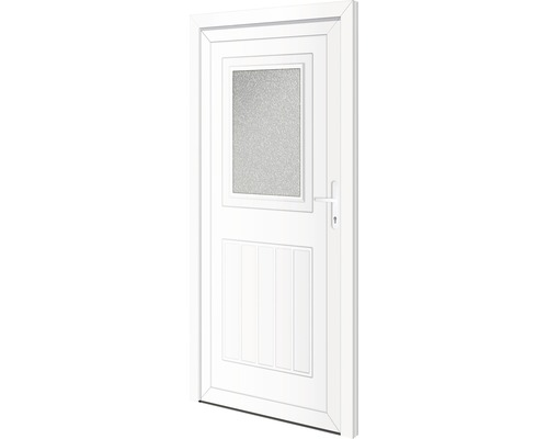 Porte d'entrée secondaire Arkansas 98x198cm droite verrouillage à 5points (blanc)