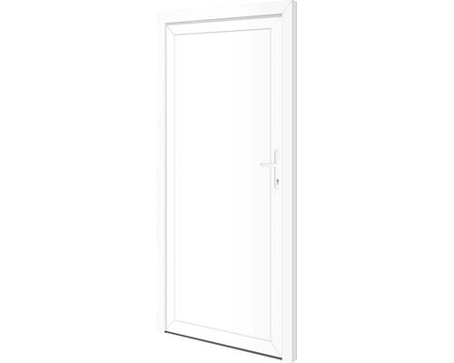 Porte d'entrée secondaire Delaware 98x198cm droite verrouillage à 5points (blanc)