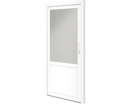 Porte d'entrée secondaire Georgia 88x198cm droite verrouillage à 1point (blanc)