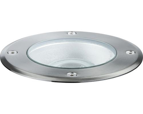 Spot LED à encastrer au sol Paulmann Plug & Shine IP67 6W 427 lm 3000 K blanc chaud Ø 140/135 mm argent pivotant 230/24V 1 pièce