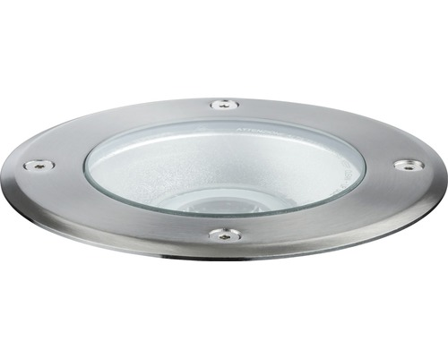 Spot à encastrer Plug & Shine IP67 3,3W 293 lm 4000 K blanc neutre Ø 140/135 mm argent 230/24V 38°