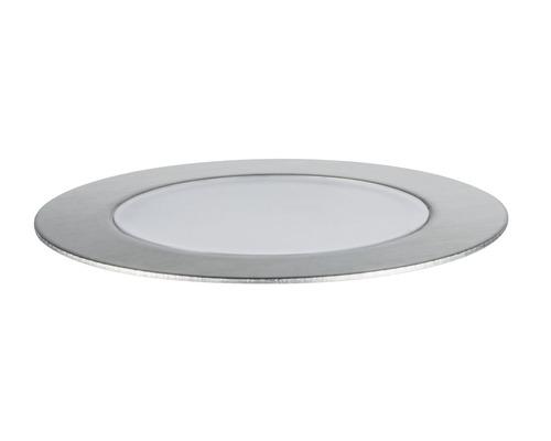 Spots à encastrer à LED Plug & Shine Paulmann Floor Eco IP65 1W 100 lm 3.000 K blanc chaud Ø 70/63 mm argent 230/24V 1 pce