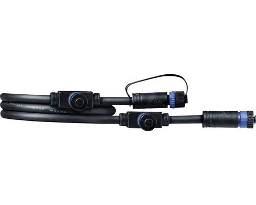 Câble Paulmann Plug & Shine IP68 noir avec trois fiches de raccordement 1 m 24V