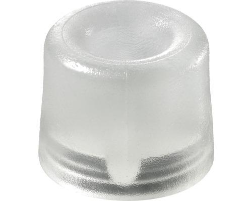 Butoir de porte Ø 30 mm transparent, à visser