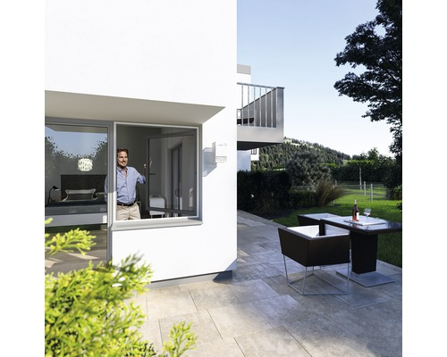 Moustiquaire pour fenêtre, 100x120, blanc