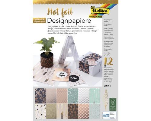 Bloc papier design Hotfoil 12 feuilles