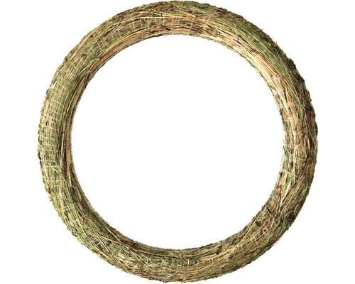 Couronne de foin Ø50cm épaisseur env. 6cm naturel