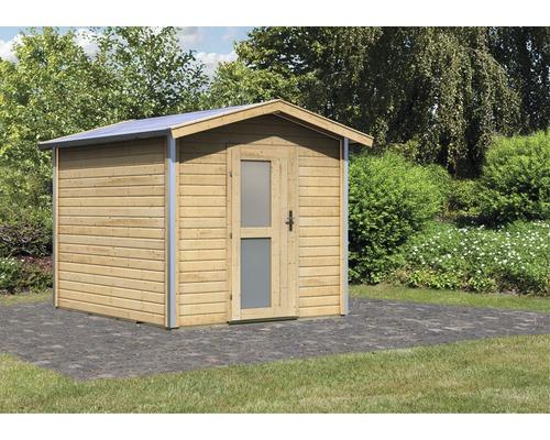 Chalet Sauna Karibu Nosse 1 sans poêle Porte en bois avec verre isolant à isolation thermique