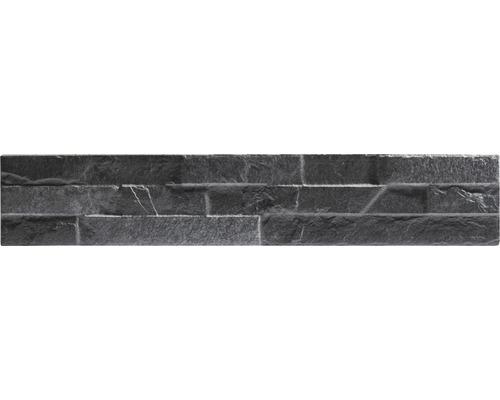 Pierre de pavement en grès cérame fin Klimex UltraStrong Bologna noir 8x44,5cm