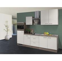 Cuisine complète Eico 270 cm avec électroménager encastré blanc magnolia/chêne Tennessee 00011560-thumb-0