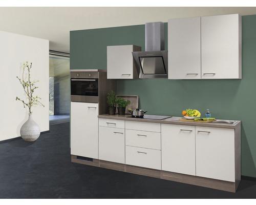Cuisine complète Eico 270 cm avec électroménager encastré blanc magnolia/chêne Tennessee 00011560-0