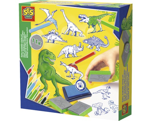 Kit créatif de tampons Dinosaure