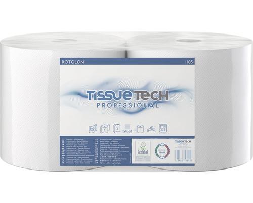 Rouleau essuie-mains, double épaisseur blanc, 724feuilles, lot de 2