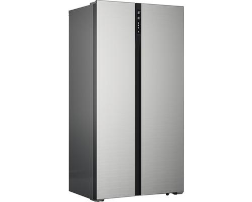 Réfrigérateur américain PKM SBS436.4A+NF IX lxhxp 83.6 x 178 x 63.3 cm compartiment de réfrigération 272 l compartiment de congélation 173 l