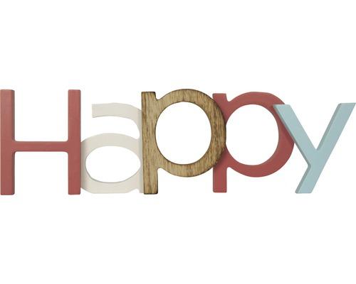 Inscription Happy bleu-rosé 168x50 cm