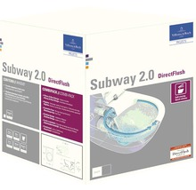 Ensemble WC Villeroy & Boch Subway 2.0 DirectFlush bride de rinçage ouverte blanc à suspension murale avec abaissement automatique de l'abattant WC 5614R201-thumb-3