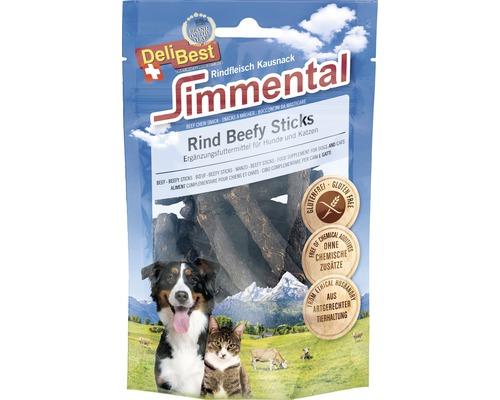 Friandises pour chiens et chats DeliBest Simmental Bœuf Beefy Sticks 90g