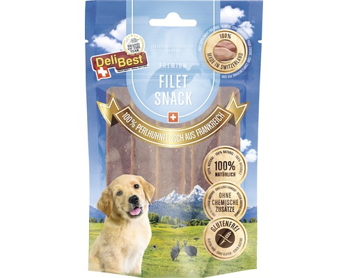 Friandises pour chiens DeliBest Filet Snack Viande de pintade 90g