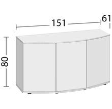 Aquarium sous-meuble JSBX Vision 450 151x61x80 cm noir-thumb-2