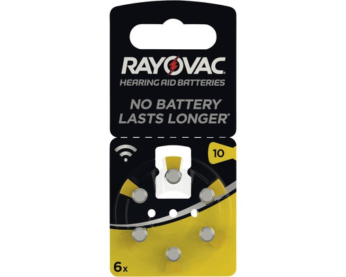 Piles pour appareils auditifs Rayovac V10 Acoustic 6 pièces