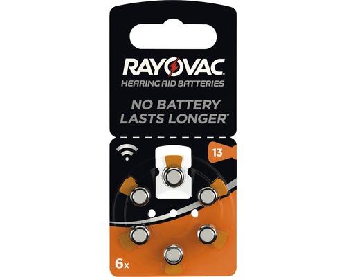 Piles pour appareils auditifs Rayovac V13 Acoustic 6 pièces