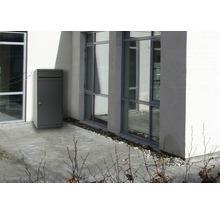Boîte à colis MEFA en acier revêtu par poudre lxhxp 511/1091/388 mm Cedar 881 gris basalte RAL 7012 retrait par l'avant 2 niveaux avec porte-nom-thumb-2